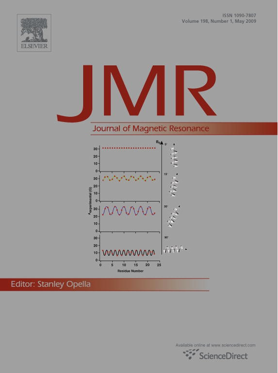 Journal of Magnetic Resonance Cover